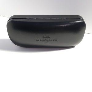 Coach eyeglass black hard case unused